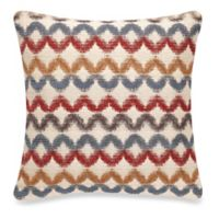 Make-Your-Own-Pillow Kyoto Irish Lace Square Throw Pillow Cover in Rust