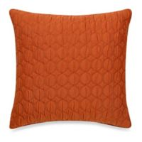 Make-Your-Own-Pillow Ogee Quilt Square Throw Pillow Cover in Rust
