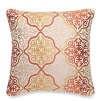 Make-Your-Own-Pillow Omnia Square Throw Pillow Cover in Rust