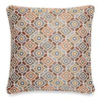 Make-Your-Own-Pillow Ritz Square Throw Pillow Cover in Rust