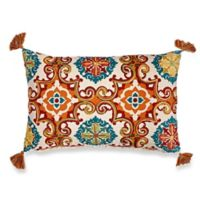 Make-Your-Own-Pillow Watson Medallion Rectangle Throw Pillow Cover in Rust