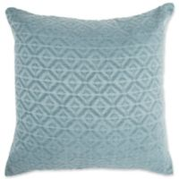 Make-Your-Own-Pillow Atlanta Jacquard Square Throw Pillow Cover in Teal