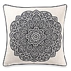 Make-Your-Own-Pillow Bandit Medallion Square Throw Pillow Cover in Navy