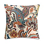 Make-Your-Own-Throw-Pillow Blakey Floral Throw Pillow Cover in Teal