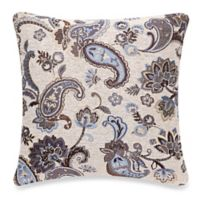 Make-Your-Own-Pillow Chantilly Square Throw Pillow Cover in Teal