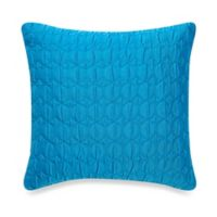 Make-Your-Own-Pillow Ogee Quilt Square Throw Pillow Cover in Bright Teal