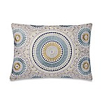 Make-Your-Own-Pillow Sunshine Medallion Oblong Throw Pillow Cover in Teal