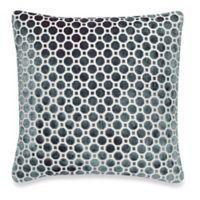 Make-Your-Own-Pillow Velvet Geo Square Throw Pillow Cover in Teal