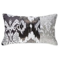 Callisto Home Ikat Rectangle Throw Pillow in Grey