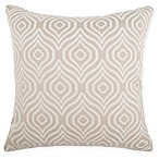 Make-Your-Own-Pillow Axel Ogee Square Throw Pillow Cover in Stone Taupe