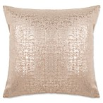 Make-Your-Own-Pillow Buckingham Square Throw Pillow Cover in Gold