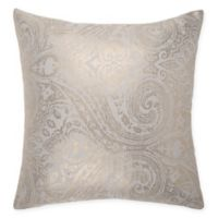 Make-Your-Own-Pillow Cupule Square Throw Pillow Cover in Gold