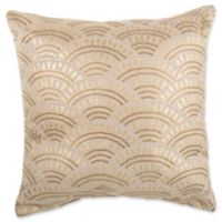 Make-Your-Own-Pillow Golden Story Square Throw Pillow Cover in Gold