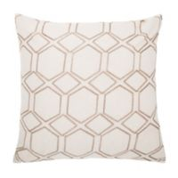 Make-Your-Own-Pillow Lowry Square Throw Pillow Cover in Beige