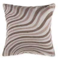 Cascade Embroidered Square Throw Pillow in Natural