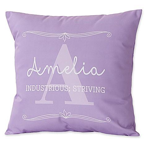 Throw Pillow Name Origin : My Name Means Keepsake Throw Pillow - Bed Bath & Beyond