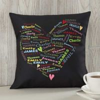 Her Heart of Love Keepsake 14-Inch Square Throw Pillow