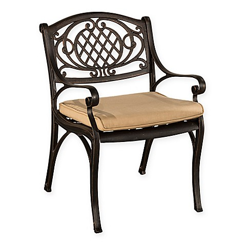 Hillsdale Esterton Outdoor Dining Chairs In Black Gold