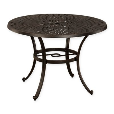 Hillsdale Esterton Round Outdoor Dining Table In Black Gold
