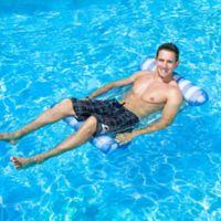 Poolmaster Water Hammock Lounge Pool Float in Blue