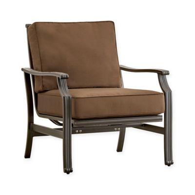 Verona Home Monte Bardo Aluminum Arm Chair With Cushion In Brown