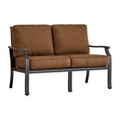 Verona Home Monte Bardo Aluminum Loveseat With Cushion In Brown Part 49