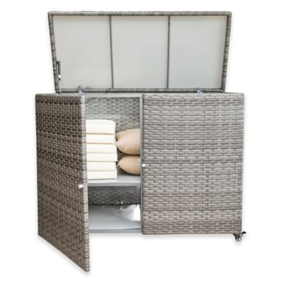 Panama Jack® Graphite Outdoor Cushion Storage Cart In Grey Part 87