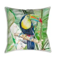 Costal Story Toucan Square Indoor/Outdoor Throw Pillow