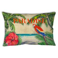 Tropical Paradise Oblong Indoor/Outdoor Throw Pillow
