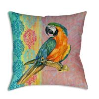 Manual Woodworkers Breezy Palms Parrot Square Indoor/Outdoor Throw Pillow