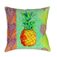Breezy Palms Pineapple Square Indoor/Outdoor Throw Pillow