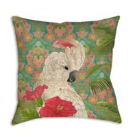 Palm Beach Cockatiel Square Indoor/Outdoor Throw Pillow