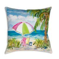 Vacation Getaway 19-Inch Square Indoor/Outdoor Throw Pillow