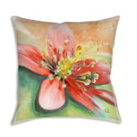 Vibrant Florals 19-Inch Square Indoor/Outdoor Throw Pillow