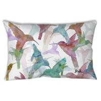 Manual Woodworkers Birds Oblong Indoor/Outdoor Throw Pillow