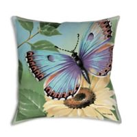 Manual Woodworkers Butterflies Square Indoor/Outdoor Throw Pillow