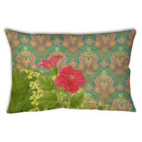 Palm Beach Hibiscus Oblong Indoor/Outdoor Throw Pillow