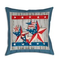 Old Glory Stars 19-Inch Square Indoor/Outdoor Throw Pillow