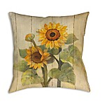 Manual Woodworkers Summer Sunflowers Square Indoor/Outdoor Throw Pillow