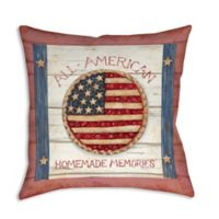 Old Glory Apple Pie Sign Square Indoor/Outdoor Throw Pillow