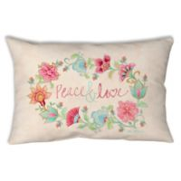 Manual Woodworkers Peace and Love Oblong Indoor/Outdoor Throw Pillow
