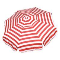 6-Foot Round Italian Beach Umbrella in Red/White