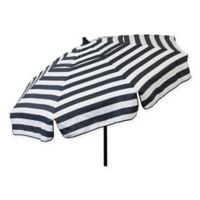 6-Foot Round Italian Beach Umbrella in Black/White