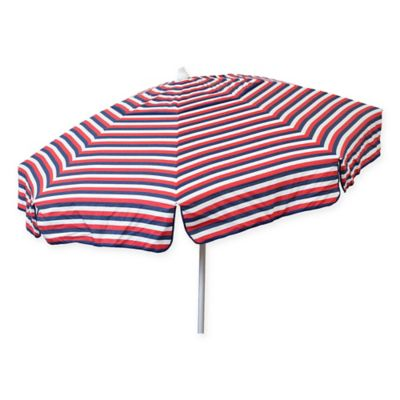6 Foot Round Italian Patio Umbrella In Red/White/Blue