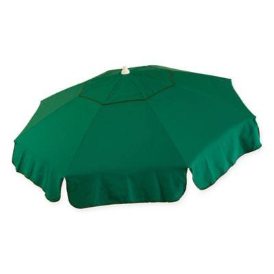 6 Foot Round Italian Patio Umbrella In Green