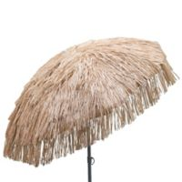 DestinationGear 6-Foot Palapa Wood Patio Umbrella in Brown