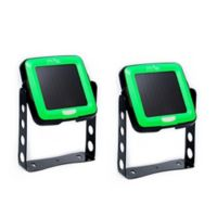 Nature Power Indoor/Outdoor Swivel Solar Light in Black/Green (Set of 2)