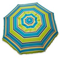 Stripe Beach Umbrella in Lime
