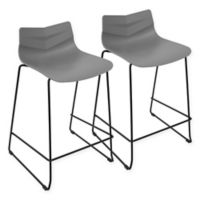 LumiSource Arrow Counter Stool in Grey (Set of 2)