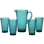 Certified International Diamond Drinkware Collection in Teal